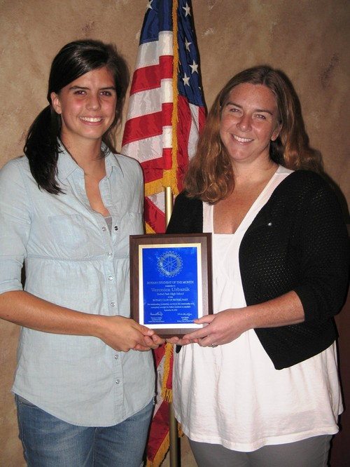 September Student of the Month Veronica Urbanik with